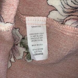 ODDY Dresses - ODDY Blush Floral Babydoll Dress-L